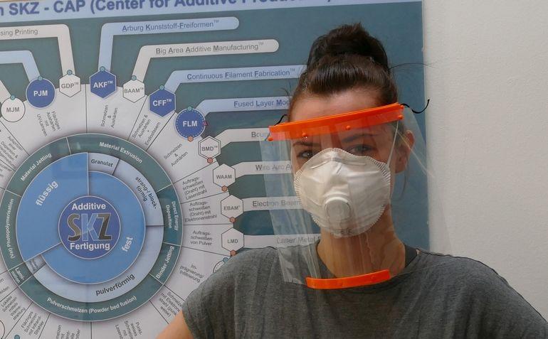 Face_Shield_SKZ additiv gefertigter Gesichtsschirm 3D-Druck Coronavirus