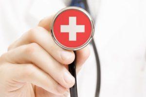 National_flag_on_stethoscope_conceptual_series_-_Switzerland