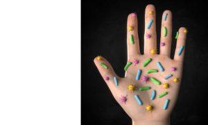 Bakterien auf der Hand Grafik