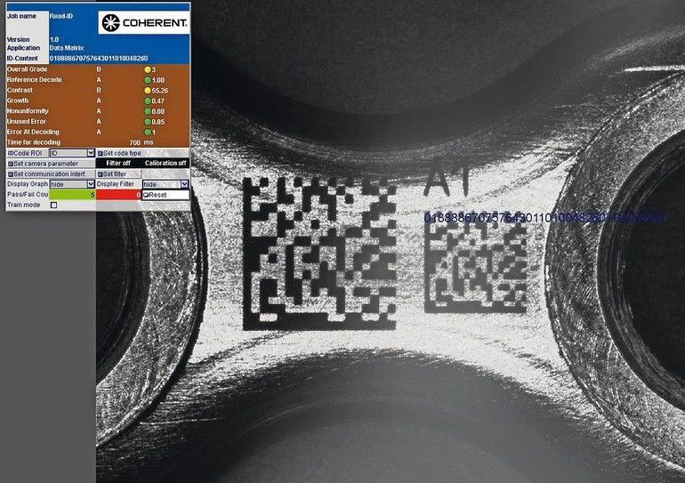 Coherent_Lasermarkieren Kennzeichnung
