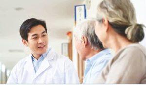 China GEsundheiteswesen Arzt ältere Patienten