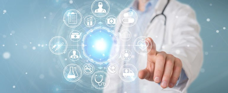 Doctor_on_blurred_background_using_digital_medical_futuristic_interface_3D_rendering