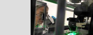 Empa Qun Ren analysiert Biofilm auf Katheter