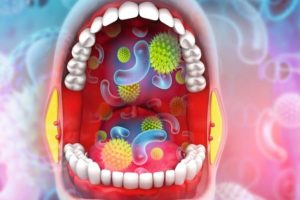 Virus,_bacterial__in_human_mouth._3d_illustration_