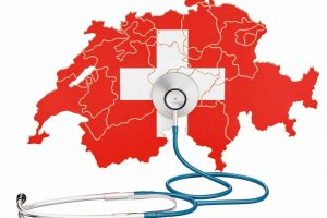 Swiss_map_with_stethoscope,_national_health_care_concept,_3D_rendering